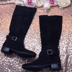 DKNY Black Suede Tall Boots 6.5M